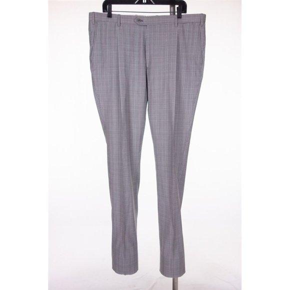 BRIONI New Kappa 150's Wool Gray Glen Check Pants